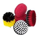 Hakkin Kit brosses de nettoyage à monter sur perceuse, brosses à récurer pour douche, baignoire, salle de bains, carrelage, joints, tapis, pneus...