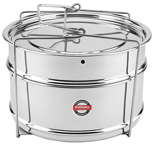 Embassy Cooker Separator Set Suitable for Prestige 5 Ltrs Deluxe & 5.5 Ltrs Popular Outer Lid Pressure Cookers (2 Containers)  available at amazon for Rs.699