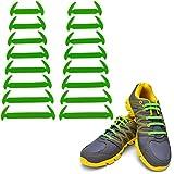Wealsex Conjunto Elásticos De Silicona Sin Encaje Prueba De Agua Varios Colores 16 Piezas Un par (verde)