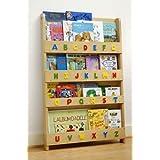 Tidy Books - Librería infantil, diseño de letras mayúsculas, color madera natural