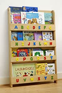 tidy books das originale kinder b cherregal in natur mit alphabet buchcover werden. Black Bedroom Furniture Sets. Home Design Ideas