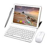 Tablette Tactile Ecran 10 Pouces 64Go ROM 3Go RAM 2 en 1-Clavier Bluetooth + Souris 4G Doule SIM/WiFi 8000mAh Batterie Tablette 4G Android-10pcs