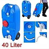 Frischwasser Rolltank 40 Liter / Wassertank - inklusive Wasserhahn und flexiblem Rohr