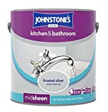 Johnstone's 308702 Kitchen and Bathroom Emulsion Paint, Frosted Silver, 2.5 Litre
