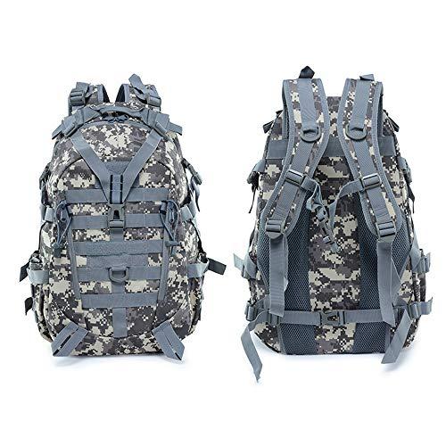 CHYZ Trading 25L Militärische Taktische Assault Pack Multifunktions MOLLE Camouflage Rucksack Sommer Winter Student Schultasche for Wandern Jagd Camping Trekking Reiserucksack (Color : ACU Color) -