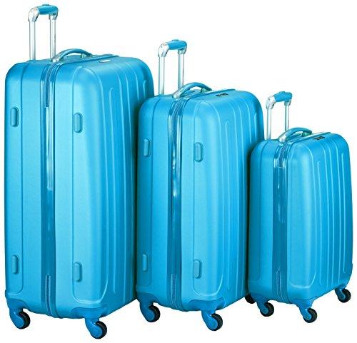 Fabrizio Gepäckset Colour Flow, 10240-4600 Koffer-Set, 78 cm, 97 L, California Blau
