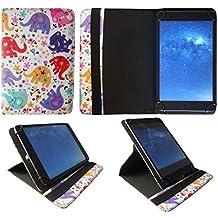 HP Slate 7 HD / 7 Plus HD Tablet Multi Elefante Universale 360 Gradi di Rotazione Custodia con Portacarte ( 7 - 8 Pollici ) di Sweet Tech