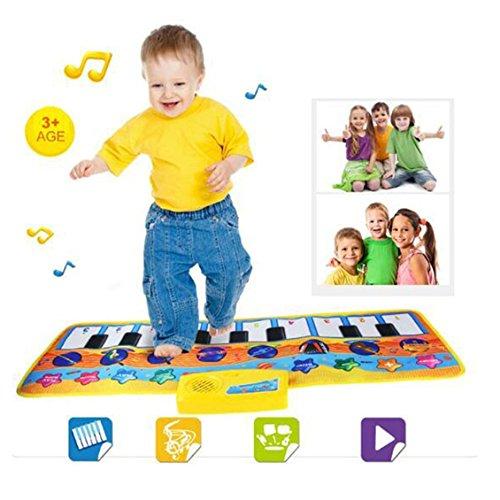Transer® Teppich Neuheit 80* 28cm Touch Play Tastatur Musical Gymnastikmatte mit Musik Singen Kinder/Baby Best Geschenke