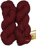 #3: Vardhman Fusion Deep Red (400 gm) Wool Ball Hand knitting wool / Art Craft soft fingering crochet hook yarn, needle knitting yarn thread dyed