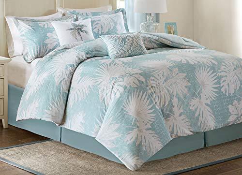 Harbor House Palm Grove Baumwolle Bedruckt 6Stück Tröster Set blau Queen (6 Stück Tröster)