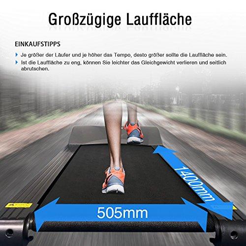 Pfingstangebot bis 05.06! Fitifito 8500 Profi Laufband 7PS 22km/h mit LED Bildschirm, Dämpfungssystem, 5 Trainingsmodulen inkl. HRC – Klappbar, Schwarz - 7