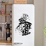 zhuziji Adesivo Murale Tazze da tè Creative Modello Cucina Adesivi murali in Vinile caffè Finestra Arte Murale Design caffè Fai da Te Casa Dicembre Bianco 69x94cm