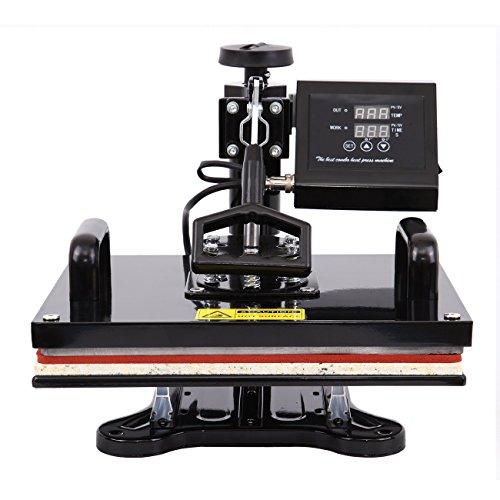 Ridgeyard Upgraded Multifunktions 5 in 1 Heißpresse/Hitzepresse/Transferpresse Überführungsmaschine Mug Hat Plate Swing Maschine Sublimation Transferdrucker für Platten Becher Schalen Hut T-Shirt - 3