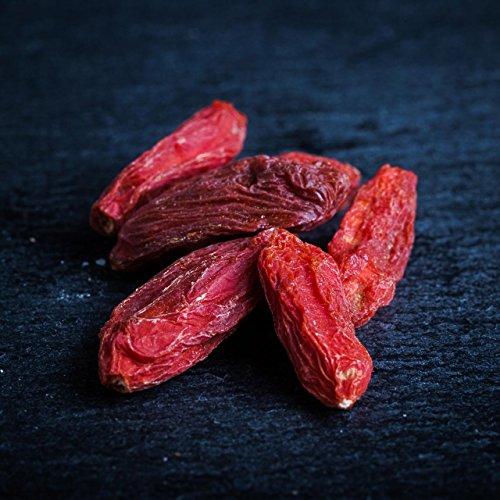 Bio Goji Beeren Getrocknet ● Superfood Trockenfrüchte ● Schwefelfrei ● Naturbelassen Ungesüßt ● 500 g Packung (Getrocknete Tomaten Pulver)