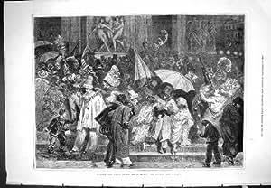 Théatre de l'opéra extérieur de Paris de l'impression 1877 antiques après masque de BAL