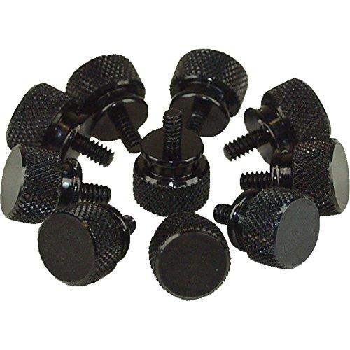 Rändelschrauben (schwarz) für Gehäuse, 12mm, 2x 10er Pack
