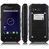 "Bestore(TM) - A8 IP68 Tri-prueba impermeable a prueba de polvo a prueba de choques MTK6572W 1.3GHz Dual Core 4.0"" IPS 800 x 480 píxel de la pantalla del androide 4.2 los 512M RAM + 4G ROM 5MP cámara dual SIM 3G WCDMA desbloqueado Smartphone (Negro)"