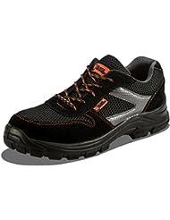 Calzado Deportivo Masculino de Seguridad con Puntera Ultraligera de conglomerado Zapatos de Trabajo al Tobillo de Senderismo con Suelas centrales de Kevlar 1997 de Black Hammer