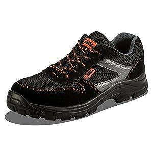 Calzado Deportivo Masculino de Seguridad con Puntera Ultraligera de conglomerado Zapatos de Trabajo al Tobillo de Senderismo con Suelas centrales de Kevlar 1997 de Black Hammer 1