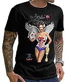 Stylotex Herren T-Shirt Basic So sehn Sieger aus Girl Croatia Hrvatska Kroatien, Größe:L, Farbe:schwarz