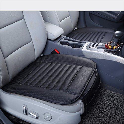 Guizen Universal Auto Sitzauflagen Sitzkissen mit Bambuskohle PU Leder (Schwarz) (Schaumstoff Einsätze Für Sofas)