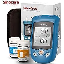 Sinocare Glucosa en sangre y Medidor de ácido úrico Sistema de doble función Monitor de azúcar