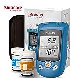 Sinocare Blutzucker-und Harnsäure Messer Blut zuckerüberwachung Harnsäure-Monitor Diabetes Test mg/dL + 50 Harnsäure Teststreifen + 50 Blutzucker Teststreifen + 100 Lanzette