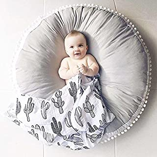 AIHOME Baby Kleinkind Spielteppich Crawl Mat Spielmatte Babyschleichenmatte Rund