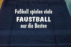 Fußball spielen viele, Faustball nur die Besten; Handtuch Sport, dunkelblau