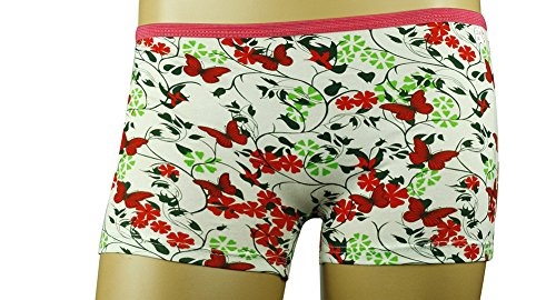 Mysocks® offre pugile comodo e corto per le signore con un design divertente Rosso e calce farfalle