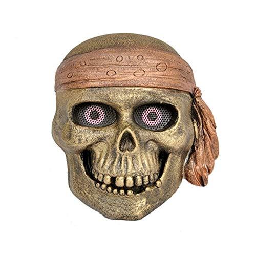 YaPin Halloween Kostüm Glas Stahl Maske Piratenkönig CS Feldmaske