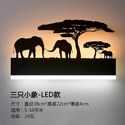 BESPD American Retro Wohnzimmer Treppenhaus Lichter kreative Sorok vor dem Spiegel Lampe LED-Wände Schlafzimmer Bett Lampen, C 24W LED) -