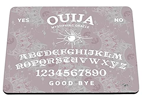 Hippowarehouse Moon Pattern Ouija Board printed mouse mat pad accessory black rubber base 240mm x 190mm x 60mm (Dusty