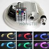 DC12V Puce CREE 10W RGBW Twinkle Fibre optique étoiles LED Lampes de Plafond kit 250pcs * 0.75mm * 3M