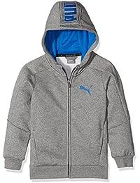 Puma-Chaqueta con capucha para niño, color gris Heather FR: 12 años (152) talla fabricante: