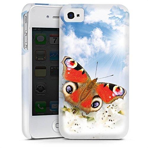 Apple iPhone 5 Housse étui coque protection Papillon Fleurs Fleurs Cas Premium mat