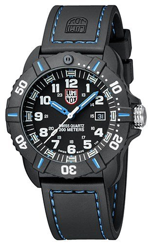 New Luminox Men's 3023 Cornado Black and Blue Watch