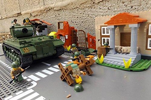 ★ World of Tanks 3008 – Bausteine US ARMY Panzer, 525 Teile, schwerer Kampfpanzer M46 PATTON, inkl. custom US ARMY Soldaten aus original Lego© Teilen ★ - 6