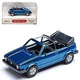 alles-meine.de GmbH Volkwagen Golf I Ozean Blau Metallic Cabrio 1979-1993 H0 1/87 Wiking Modell Auto