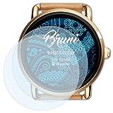 Bruni Schutzfolie für Fossil Q Wander Folie, glasklare Displayschutzfolie (2X)