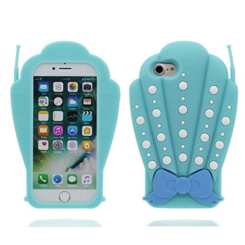 """Coque pour iPhone 7 Plus, iPhone 7 Plus Étui Cover Housse (5.5""""), 3D Boîte à cigarettes TPU Material Flexible Crâne Shell Dust Slip Scratch Resistant, iPhone 7 Plus Case bleu"""