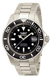 Invicta Men's Automatic Watch with Black Dial Analogue Display and Silver Titanium Bracelet 0420