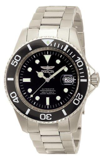 Invicta 0420 Pro Diver Herren Uhr titanium Automatik schwarzen Zifferblat
