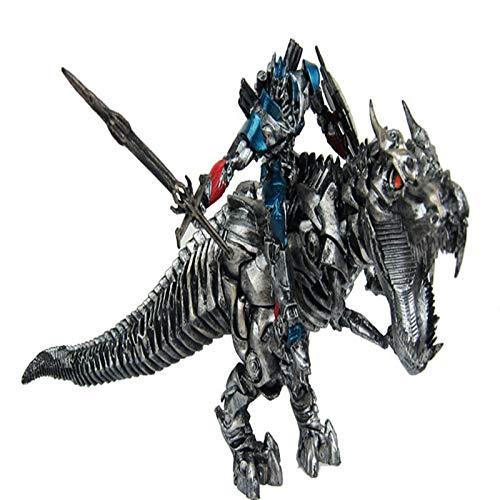 NYDZDM Jurásico Dinosaurio Transformación de juguetes Transformadores Optimus Prime Tyrannosaurus Dinosaurio Modelo Estatua Adulto Juguetes para niños Decoración navideña Juego Juego Personaje de dibu