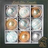 Cáncer Cristal Lauscha-Árbol de Navidad.-Bolas-Bolas de Cristal en nórdico...