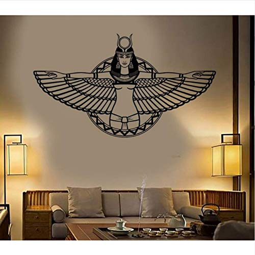 en Ägypten Königin Cleopatra Egyptian Wings Aufkleber Schlafzimmer Wohnzimmer Dekoration Vinyl Kunstwand 100x57 cm ()