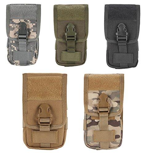 Reefa Multi-Purpose Premium Nylon Outdoor Molle Pouch Compact EDC Utility Gadget Waist Bag Pack for Mobile...