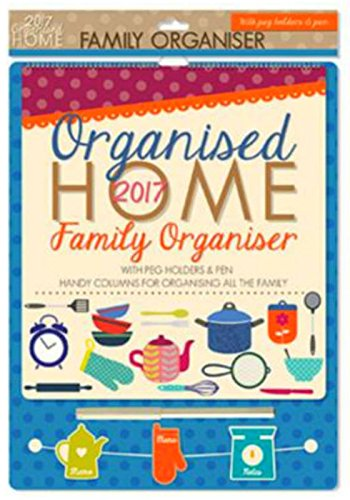 2018 KITCHEN FAMILY ORGANISER / CALENDAR WITH PEG HOLDERS & PEN -0026 HOME thumbnail