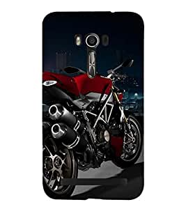 RED COLOUR RACING BIKE ON DISPLAY 3D Hard Polycarbonate Designer Back Case Cover for Asus Zenfone Go (5 Inches ):: Asus Zenfone Go ZC500TG
