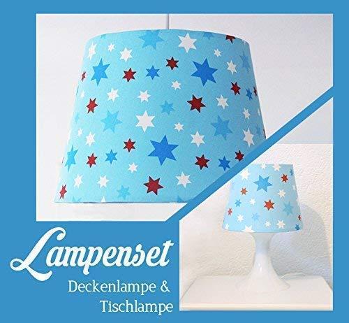 """Lampenset""""Sternchen"""" Deckenlampe & Tischlampe"""